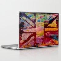 union jack Laptop & iPad Skins featuring Union Jack  by ChandaElaine