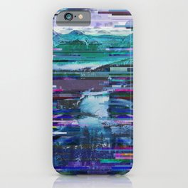 Mountains watch over an icy river iPhone Case