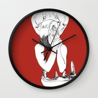 eat Wall Clocks featuring EAT by Creating is Breathing