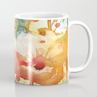 poppies Mugs featuring Poppies by Yevgenia Watts