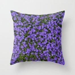 Tiny Purple Flowers Throw Pillow