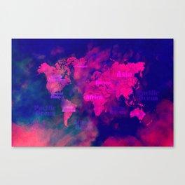 world map 114 3D #worldmap #map Canvas Print