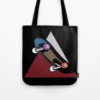 skate Tote Bags featuring Skate by Keagraphics