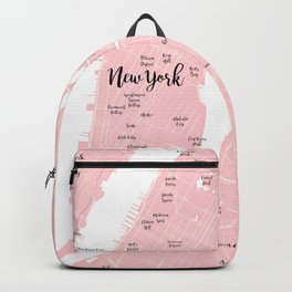 New York Map in the Eyes of a Girl who loves Calligraphic fonts Backpack