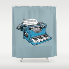 The Composition - Original Colors. Shower Curtain