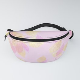 Rose Gold Blush & Gold Falling Leaves Fanny Pack