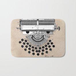 patent art type writing machine Bath Mat