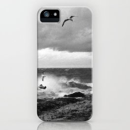 Storm at Five mile Point, Lake Superior iPhone Case