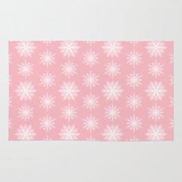 Frosty Snowflakes Sweet Blush Rug