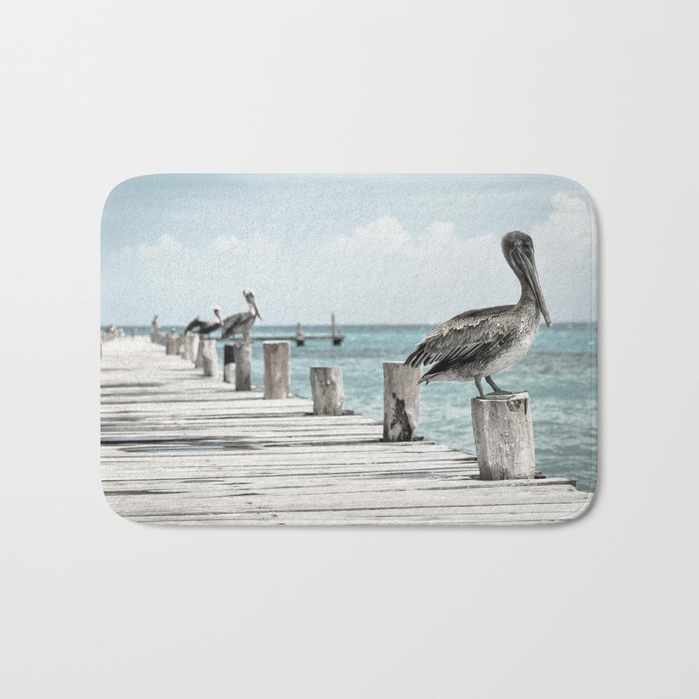 Pelicans Line-up Bath Mat by Missguiguitte BMT8704829