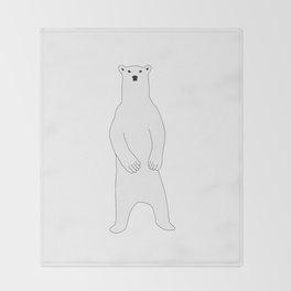 Polar bear standing Throw Blanket