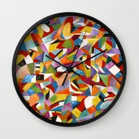lv Wall Clocks featuring I LV YOU! by Erick Stow
