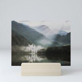 Dreamlike Morning at the Lake - Nature Forest Mountain Photography Mini Art Print