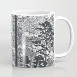 Albert König (1881-1944) - Kiefern Black And White Landscape Ink Art Coffee Mug