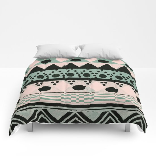 PASTEL NORDIC TRIBAL  Comforters