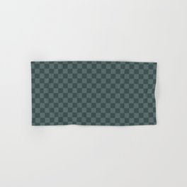 Checkerboard Pattern Inspired By Night Watch PPG1145-7 & Juniper Berry Green PPG1145-6 Hand & Bath Towel
