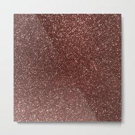 Ruby Pink Copper Glitter Metal Print