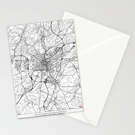 Luxembourg Map White Stationery Cards