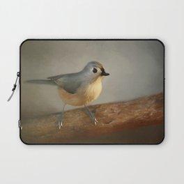 Winter Tufted Titmouse Laptop Sleeve