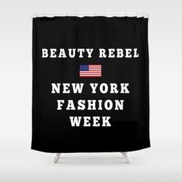 Beauty Rebel NYFW Tote (Black) Shower Curtain