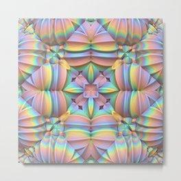 Symmetry in Pastels Metal Print
