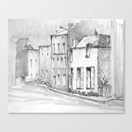 Monochrome Sketch Canvas Print