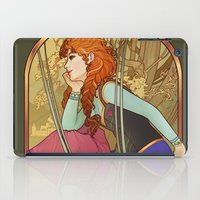 mucha iPad Cases featuring For the First Time in Forever by Megan Lara