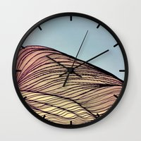 dune Wall Clocks featuring Sand Dune by Brontosaurus