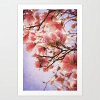 magnolia Art Prints featuring Magnolia  by KunstFabrik_StaticMovement Manu Jobst