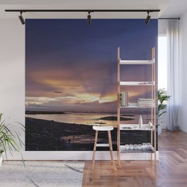 Beams of Light across the Sky Wall Mural