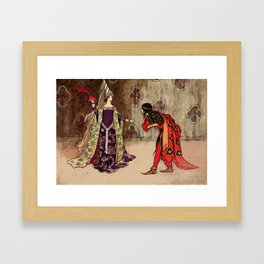 Bowing to the princess Framed Art Print