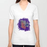 garrus V-neck T-shirts featuring Garrus Vakarian (Mass Effect) by MajesticSeahawk Designs