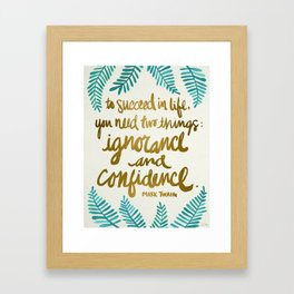 Ignorance & Confidence #1 Framed Art Print