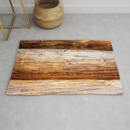 Wooden Log Wall Of A Vintage Cabin Rug