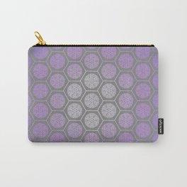 Hexagonal Dreams - Purple Blue Gradient Carry-All Pouch