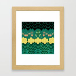 Rainforest HARMONY pattern Framed Art Print