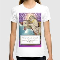 posters T-shirts featuring Inspirational Posters/Cards by Regina Caeli Art