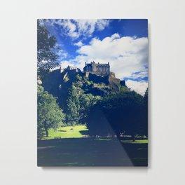 Edinburgh's Garden View. Metal Print