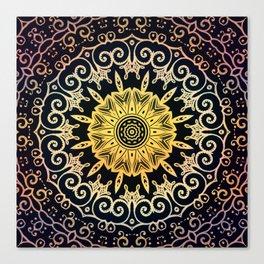 orange on the dark pattern Canvas Print