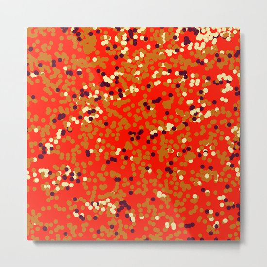dots on red Metal Print