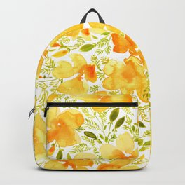Watercolor California poppies (Quad set, #2) Backpack