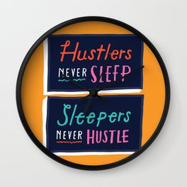 Never Sleep Wall Clock