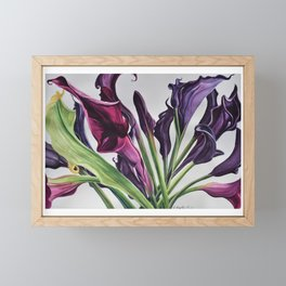 Purple passion Framed Mini Art Print