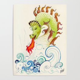 A happy dragon Poster