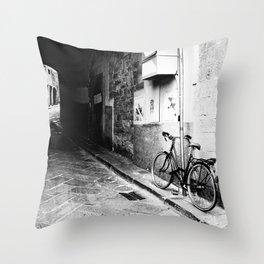 Bicicletta (Florence) Throw Pillow