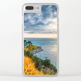 Andaman Sea Sunset Clear iPhone Case
