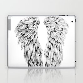 Black and White Angel Wings Laptop & iPad Skin