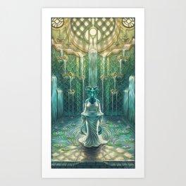 Elemental Temple - Water Art Print