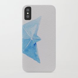 Origami-boat and butterfly iPhone Case