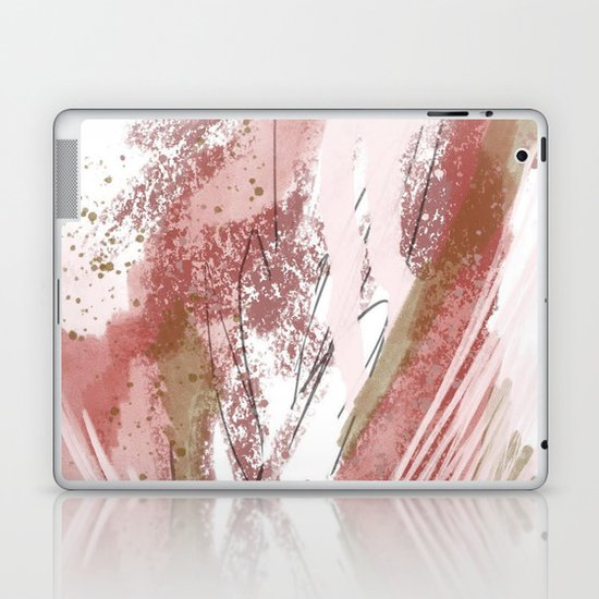 Sugar and Spice: a minimal, abstract mixed-media piece in pink and brown by Alyssa Hamilton Art by blushingbrushstudio